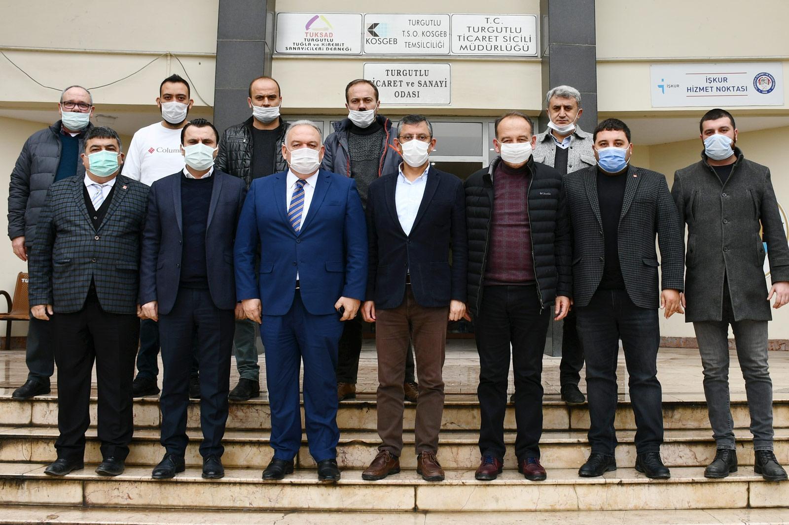 CHP Grup Başkanvekili Özgür Özel'den TUTSO'ya Ziyaret