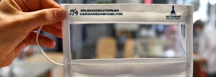 İşitme engelliler için şeffaf maske üretiliyor